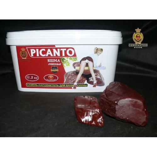 Камень для бани и сауны PICANTO Яшма Рубиновая (11,3 кг) (Полированная)