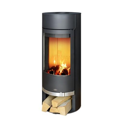 Печь-камин Vigo черная сталь