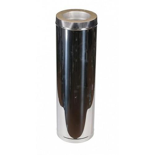 Труба сэндвич 1000 мм 2T AISI 321 для дымохода из нержавеющей стали