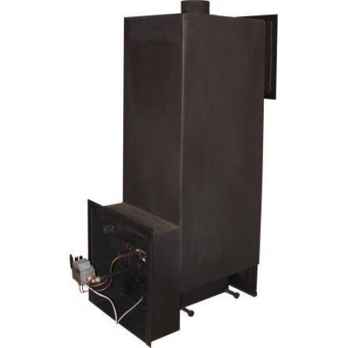 Газовая печь для бани № 06-ГТ60 с топкой из котловой стали (10-40мм)  (Усиленная)