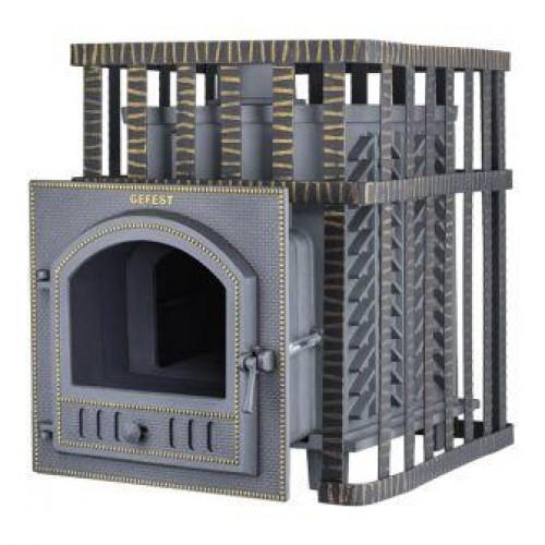 Чугунная банная печь GFS ЗК 18(П) в сетке